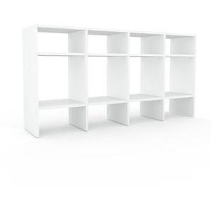 Schallplattenregal Weiß - Modernes Regal für Schallplatten: Hochwertige Qualität, einzigartiges Design - 156 x 80 x 35 cm, Selbst designen