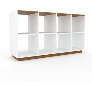 Schallplattenregal Weiß - Modernes Regal für Schallplatten: Hochwertige Qualität, einzigartiges Design - 156 x 85 x 47 cm, Selbst designen