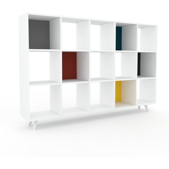Schallplattenregal Weiß - Modernes Regal für Schallplatten: Hochwertige Qualität, einzigartiges Design - 195 x 130 x 35 cm, Selbst designen