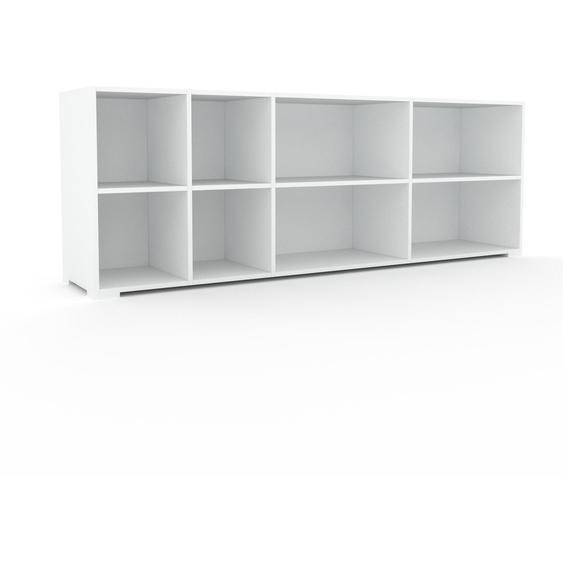 Schallplattenregal Weiß - Modernes Regal für Schallplatten: Hochwertige Qualität, einzigartiges Design - 229 x 81 x 47 cm, Selbst designen