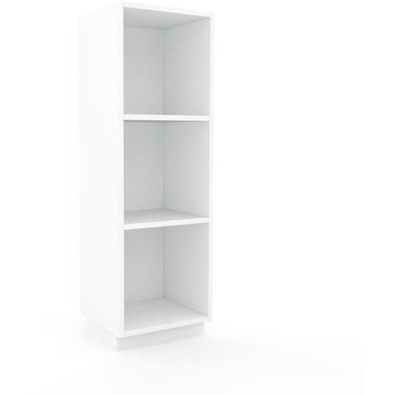 Schallplattenregal Weiß - Modernes Regal für Schallplatten: Hochwertige Qualität, einzigartiges Design - 41 x 124 x 35 cm, Selbst designen