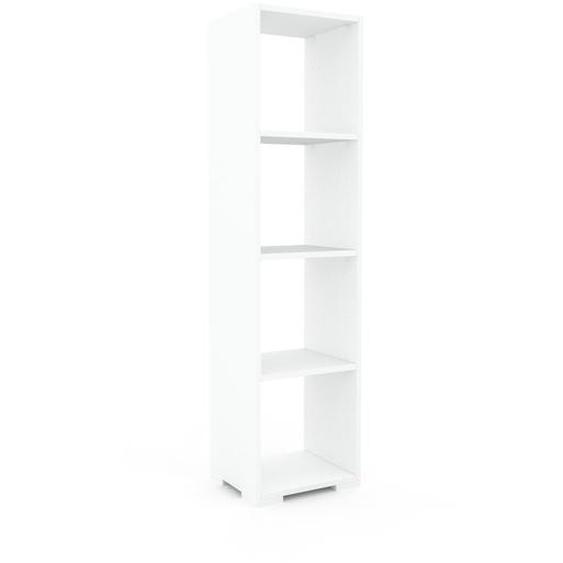 Schallplattenregal Weiß - Modernes Regal für Schallplatten: Hochwertige Qualität, einzigartiges Design - 41 x 158 x 35 cm, Selbst designen
