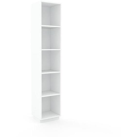 Schallplattenregal Weiß - Modernes Regal für Schallplatten: Hochwertige Qualität, einzigartiges Design - 41 x 200 x 35 cm, Selbst designen