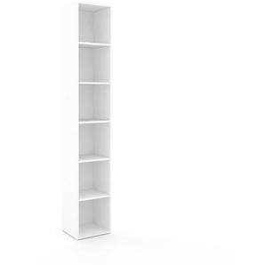 Schallplattenregal Weiß - Modernes Regal für Schallplatten: Hochwertige Qualität, einzigartiges Design - 41 x 233 x 35 cm, Selbst designen