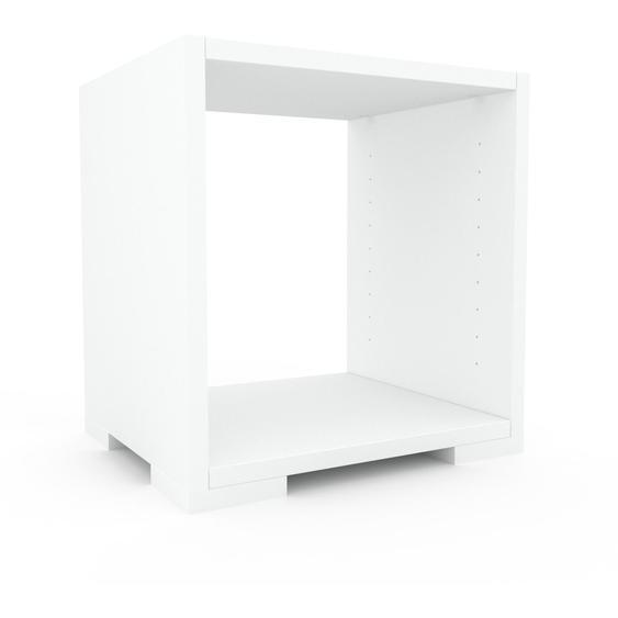 Schallplattenregal Weiß - Modernes Regal für Schallplatten: Hochwertige Qualität, einzigartiges Design - 41 x 43 x 35 cm, Selbst designen