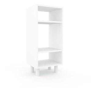 Schallplattenregal Weiß - Modernes Regal für Schallplatten: Hochwertige Qualität, einzigartiges Design - 41 x 91 x 35 cm, Selbst designen