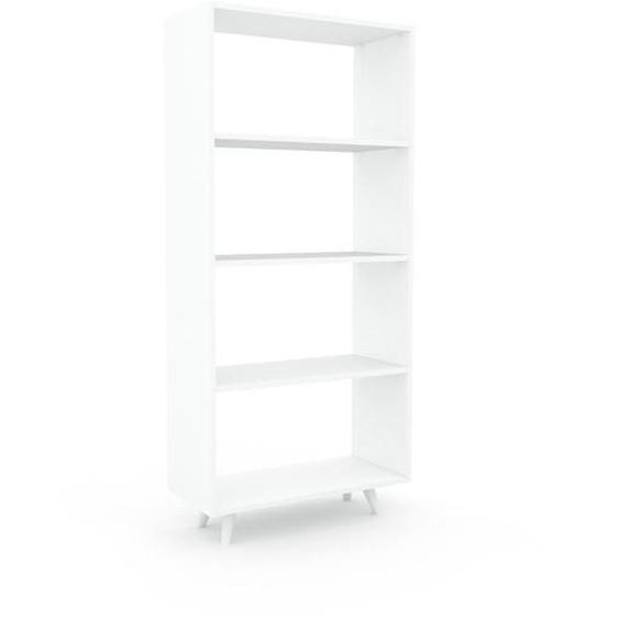 Schallplattenregal Weiß - Modernes Regal für Schallplatten: Hochwertige Qualität, einzigartiges Design - 77 x 168 x 35 cm, Selbst designen