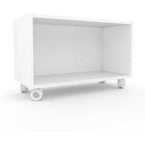 Schallplattenregal Weiß - Modernes Regal für Schallplatten: Hochwertige Qualität, einzigartiges Design - 77 x 49 x 35 cm, Selbst designen