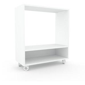 Schallplattenregal Weiß - Modernes Regal für Schallplatten: Hochwertige Qualität, einzigartiges Design - 77 x 87 x 35 cm, Selbst designen