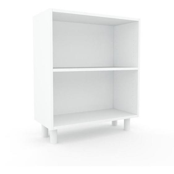 Schallplattenregal Weiß - Modernes Regal für Schallplatten: Hochwertige Qualität, einzigartiges Design - 77 x 91 x 35 cm, Selbst designen