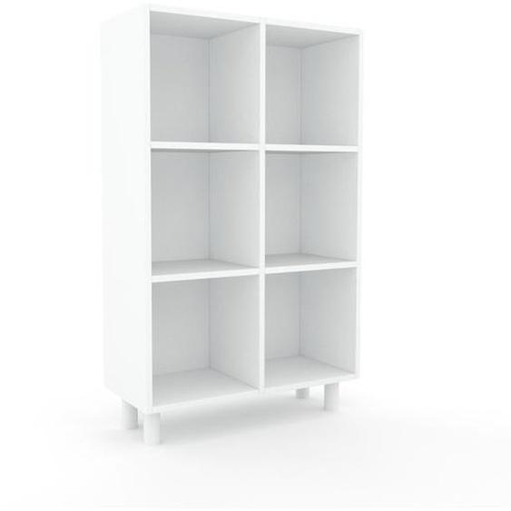Schallplattenregal Weiß - Modernes Regal für Schallplatten: Hochwertige Qualität, einzigartiges Design - 79 x 130 x 35 cm, Selbst designen