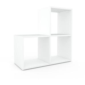 Schallplattenregal Weiß - Modernes Regal für Schallplatten: Hochwertige Qualität, einzigartiges Design - 79 x 80 x 35 cm, Selbst designen