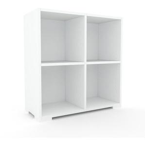 Schallplattenregal Weiß - Modernes Regal für Schallplatten: Hochwertige Qualität, einzigartiges Design - 79 x 81 x 35 cm, Selbst designen