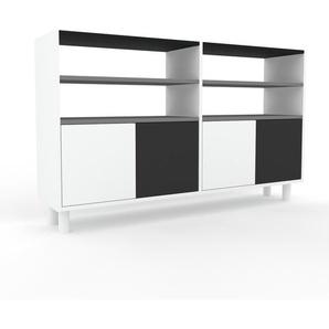 Schallplattenregal Weiß - Modernes Regal für Schallplatten: Türen in Weiß - 152 x 91 x 35 cm, Selbst designen