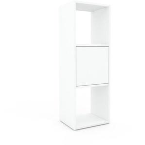 Schallplattenregal Weiß - Modernes Regal für Schallplatten: Türen in Weiß - 41 x 118 x 35 cm, Selbst designen