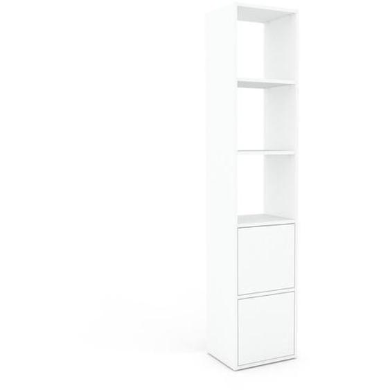 Schallplattenregal Weiß - Modernes Regal für Schallplatten: Türen in Weiß - 41 x 195 x 35 cm, Selbst designen