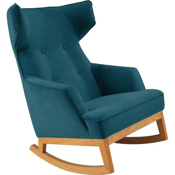 TOM TAILOR Schaukel-Stuhl »COZY«, im Retrolook, mit Kedernaht und Knöpfung, Füße Eiche natur