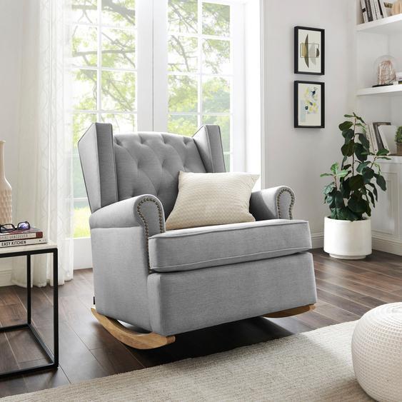 Schaukel-Stuhl »Genf«, 83x98x97.5 cm (BxHxT), FSC®-zertifiziert, Home affaire, grau, Material Massivholz, Holzwerkstoff