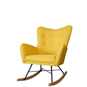 Schaukelsessel Sessel CLOVIS in diversen Stoff und Farbva...
