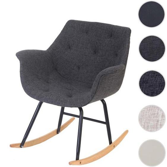 Schaukelstuhl Malm� T820, Schwingsessel Relaxsessel ~ Textil, grau