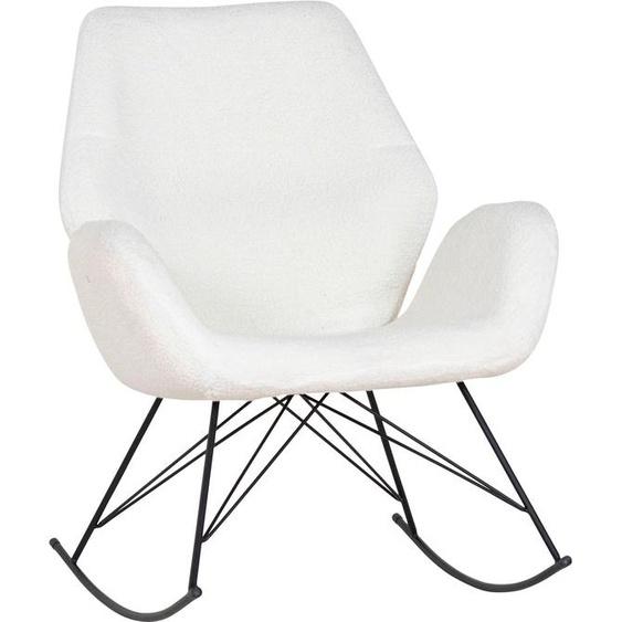 Schaukelstuhl, 74x94x85 cm (BxHxT), Homexperts, schwarz, Material Metall, strapazierfähig