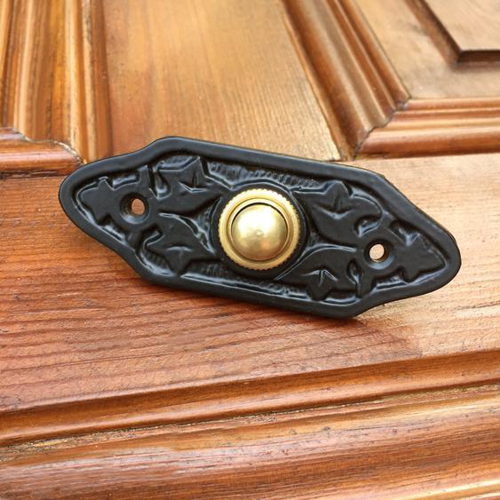 Schelle Antik Klingel Retro Türklingel schwarz - Zierbeschläge antike Haustür