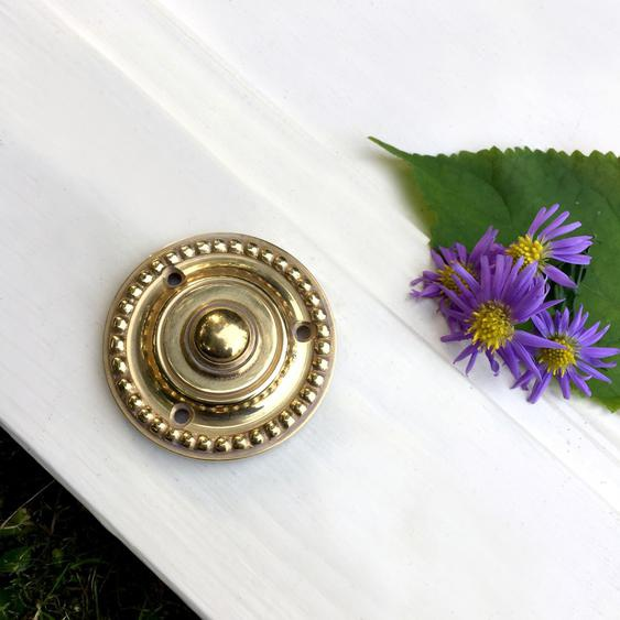 Schelle Jahrhundertwende - Antik Klingel Messing Türklingel - Top-Qualität