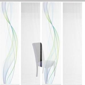 Schiebegardine »4ER SET HEIGHTS«, Vision S, Paneelwagen (4 Stück), HxB: 260x60, Schiebevorhang 4er Set Digitaldruck