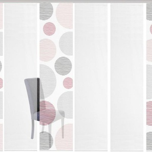 Schiebegardine »6ER SET BORDEN«, Vision S, Paneelwagen (6 Stück), Schiebevorhang 6er Set Digitaldruck