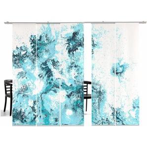 Schiebegardine, Deep Ocean TR, emotion textiles, Klettband 5 Stück