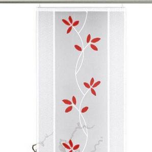 Schiebegardine »Fiore«, VHG, Klettband (1 Stück), inkl. Befestigungszubehör, Bogenabschluss