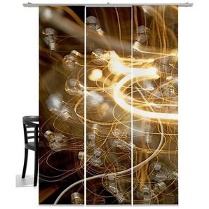 Schiebegardine »Glühwürmchen«, emotion textiles, Klettband (3 Stück), mit Befestigungszubehör