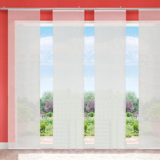Schiebegardine »LUKKI«, HOME WOHNIDEEN, Klettband (4 Stück), HxB: 245x60, inkl. Befestigungszubehör
