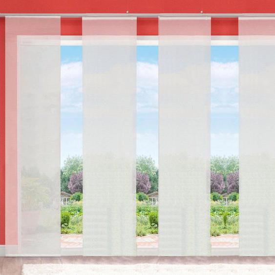 Schiebegardine »LUKKI«, HOME WOHNIDEEN, Klettband (6 Stück), HxB: 245x60, inkl. Befestigungszubehör