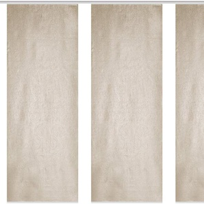 Schiebegardine »OLIVERIO«, HOME WOHNIDEEN, Klettschiene (3 Stück)