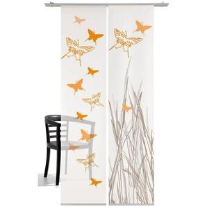 Schiebegardine »Schmetterling«, emotion textiles, Klettband (2 Stück), mit Befestigungszubehör