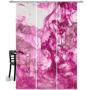 Schiebegardine »Storm of colours«, emotion textiles, Klettband (3 Stück), inkl. Beschwerungsstange