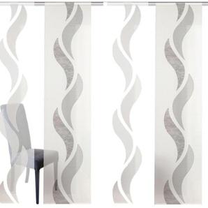 Schiebegardine »WELLE«, HOME WOHNIDEEN, Klettband (5 Stück), HxB: 245x60, inkl. Befestigungszubehör