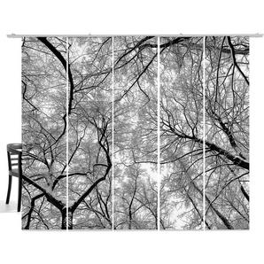 Schiebegardine, Wood, emotion textiles, Klettband 5 Stück