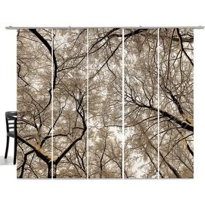 Schiebegardine »Wood«, emotion textiles, Klettband (5 Stück), mit Befestigungszubehör