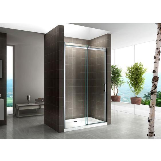 Schiebetür für Nische Duschabtrennung Dusche Duschkabine 8mm Klarglas 160x200cm Links und Rechts Montierbar