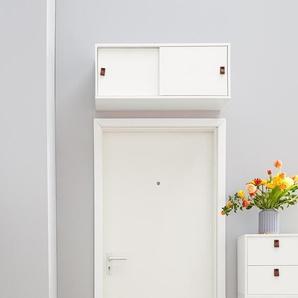 Schiebetüren-Oberschrank - braun - Holz -