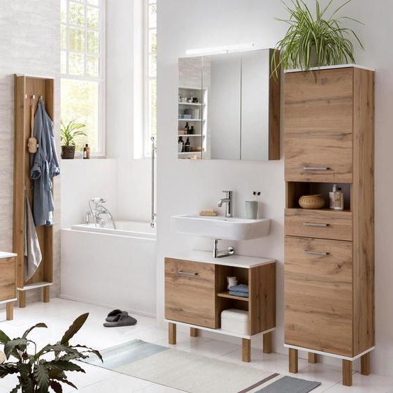 Schildmeyer-Bad-Hochschrank »H 400 Wido« - silber - Holz -