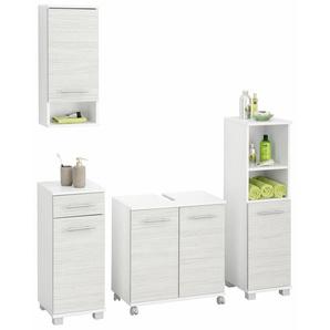 Schildmeyer Badezimmer-Set, 4er Set, weiß »Emmi«