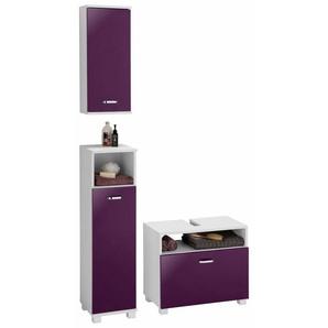 Schildmeyer Badmöbel-Set »Colli«, (Set, 3-St), aus Hochschrank, Waschbeckenunterschrank und Hängeschrank, Badezimmerschränke mit Metallgriffen und viel Stauraum