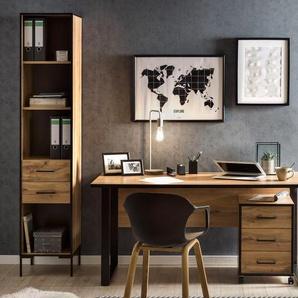 Schildmeyer-Bürohochschrank »2000 H 400 R« - schwarz - Holz -