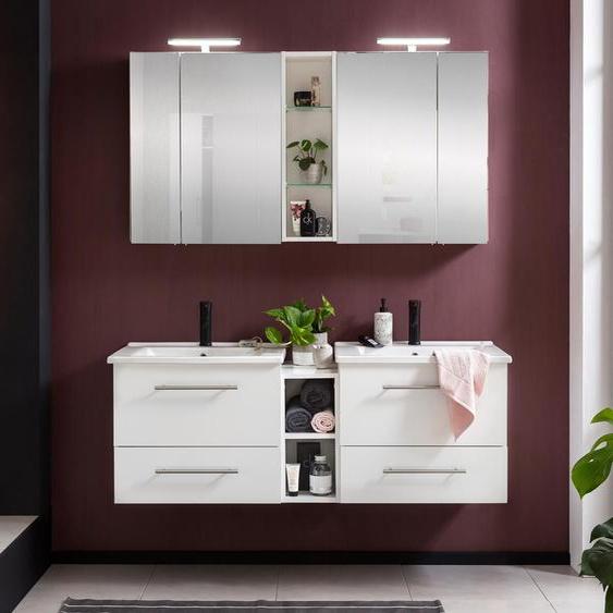 Schildmeyer-Doppelspiegelschrank »Runa SET Spiegelschrank Irene« - weiß - Holz -