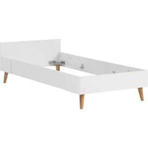 Schildmeyer Einzelbett »Moonlight«, mit Möbelfüße aus Massivholz und Melamin-Oberfläche