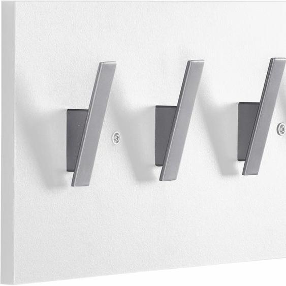 Garderobenpaneel »Danu«, 40x19.5x6 cm (BxHxT), FSC®-zertifiziert, Schildmeyer, weiß, Material Kunststoff, Holzwerkstoff, Melamin, MDF