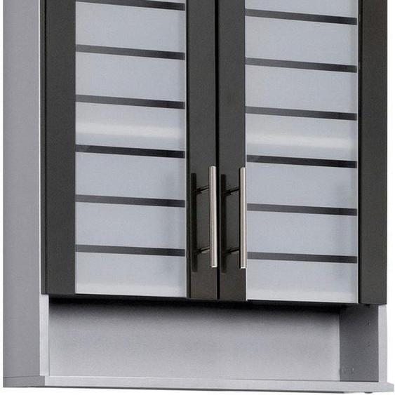 Schildmeyer Hängeschrank »Nikosia« Breite 60 cm, mit Glastüren, hochwertige MDF-Fronten, Metallgriffe